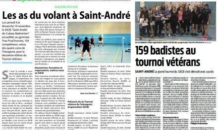 2ème tournoi Vétéran du SACB, la presse en parle!!